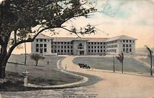 Vtg Postcard Administration Building Balboa Panama Canal Zone Colored Photo Car