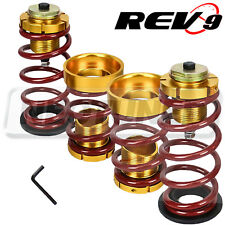 REV9 FOR HONDA CIVIC 06-11 FA FG LOWERING SPRING SLEEVE KIT RED SUSPENSION SET