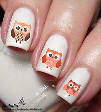 Owl Nail Art Water Transfer decal sticker wrap 56