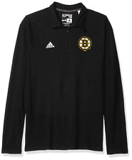 Adidas NHL Boston Bruins 1/4 Zip Tee (S) Pullover Sweatshirt L/S NWT $60 Unisex