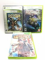 Bioshock 1 Bioshock 2 & Infinite Microsoft XBOX 360 Bundle Lot Complete Tested