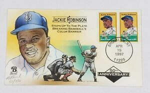 Bevil HP Jackie Robinson 50th Anniversary Event Cover Cachet 53/450 1997