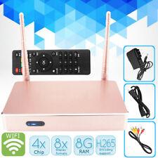 8GB HD IPTV WiFi Smart Android Arabic TV Box Arabic Channels Receiver Pink