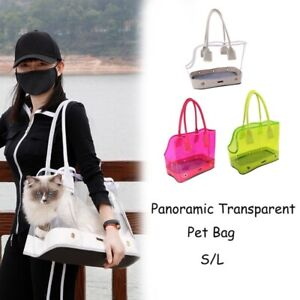 Dog Cat Outdoor Carrier Travel Portable Clear Bag Breathable Pet Carrier Handbag