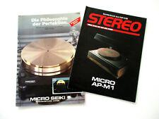 Micro Seiki Katalog Prospekt 1983 / 84 Hifi Audio Technik Broschüre HI-FI 1988