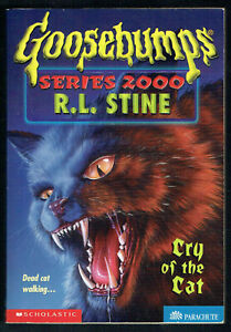 GOOSEBUMPS,SERIES 2000.CRY OF THE CAT#1,1st edition USA,CHILLING IRON-ON,NEW.