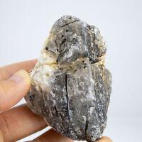 K85 NATURAL Tourmaline Skeletal Crystal Clear Quartz Cluster Specimen RAW Gem