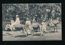 Caribbean BWI Jamaica Going home from Market pre1919 PPC local pub Duperly