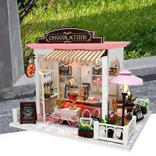 Mini Doll House Wooden Dollhouse Miniature Assembling 3d Puzzle Toy DIY Kits