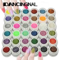 36 Couleurs Gel UV Faux Ongles Extension Glitter Contruction Finition Nail Art