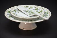 Andrea by Sadek - Cake Stand, Cake Plate and Server - Porcelain - Gold Trim