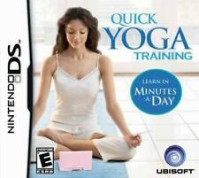 Quick Yoga Training (Eng/French) DS/Lite/DSi/XL/3DS NEW