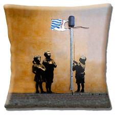 "NEW Banksy Graffiti Artist Pledging Allegiance to Tesco 16"" Pillow Cushion Cover"