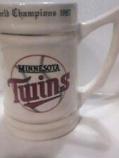 MINNESOTA TWINS  World Champions 1987   5 1/2 Inch Tall  Mug  Stein  Baseball