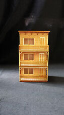O Scale Apartment House Store Front Kit Model Railroad Train Building On30 Scale