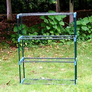 NEW 4 Tier Flower Plant Staging Display Greenhouse Racking Shelving Unit