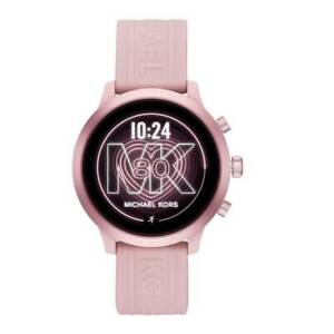 Michael Kors Women's MKT5070 Pink Aluminum Case With Pink Silicone Band