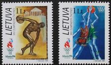 Juegos Olímpicos de sellos, baloncesto, Discus 1996, Lituania, SG Ref: 623 y 624, estampillada sin montar o nunca montada