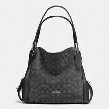 Coach Signature Edie 31 Jacquard Smoke/black Shoulder Bag 57933