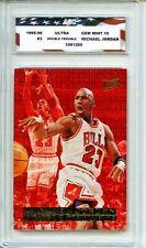 1995-96 Fleer Ultra Double Trouble #3 Michael Jordan AGC 10 Gem Mint Bulls