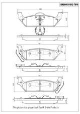 Disc Brake Pad Set-SEMI METALLIC PADS Rear Dash 4 Brake MD1012