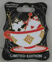 WDI Disney Disneyland D23 Mad Tea Party Ace of Spades & Hearts Teacup Pin LE 250