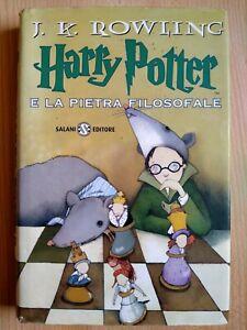 Harry Potter E La Pietra Filosofale prima edizione tela rossa 8a ristampa 2000