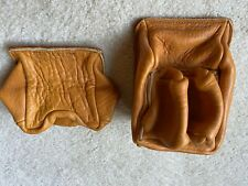 2 Vintage All Leather Rests - Rifle and Pistol - PROTEKTOR MODEL Co. Galeton PA