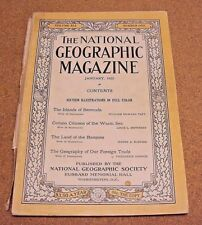 National Geographic January 1922 Bermuda Fish Basques Geography Foreign Trade