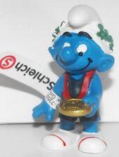 20745 Winner Smurf Plastic Figurine 2012 Olympic Sports Set Gold Medalist Figure