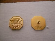 Vintage 1984 Summer Olympic Games gold Stars in Motion pin