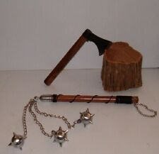Hand Battle Axe + Three Ball Battle Mace , Viking , Medieval , Free Shipping