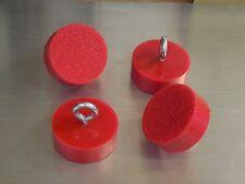 RED  CORVETTE LIFT PUCK Lift PADS, JACK PADs (SET OF 4) C6 2000-2012 VETTE