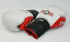 Ringside Boxing MMA White Black Gloves 18 OZ Best In Boxing IMF Tech PROMFTG