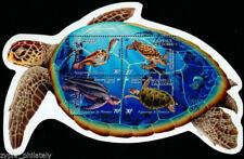 "New Caledonia - ""AQUARIUM OF NOUMEA ~ SEA TURTLES"" Odd - Shaped MNH MS 2002 !"