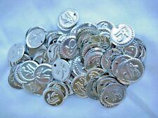 "100 Egyptian Belly Dancing ""Eye Of Horus"" Silver Metal Coins 0.75"" Diameter"