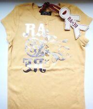 Superbe T-shirt RA-RE NEUF étiqueté 8ans jaune douce motif argenté Val. 69€