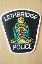 Patches: LETHBRIDGE 1890-1906 CANADA POLICE PATCH (NEW* apx.11x10 cm)