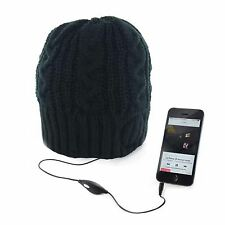 Mens Womens Unisex Knitted Thermal Winter Beanie Hat Built In Music Headphones