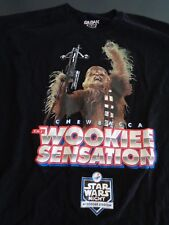 LOS ANGELES DODGERS Star Wars Night CHEWBACCCA Wookiee Sensation Size XL Shirt