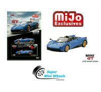 Mini GT Pagani Huayra Roadster ( Blue ) 1:64 Diecast Model Car Mijo Exclusives