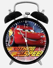 "Disney Cars Mcqueen Alarm Desk Clock 3.75"" Home or Office Decor Z181 Nice Gift"