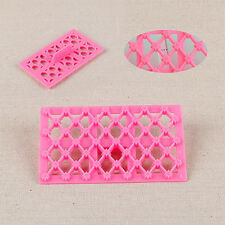 8-Petal Quilt Flower Cake Cookie Fondant Cutter Embossing Decorating Mold US