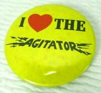 VTG 1960s I Love (Heart) The Agitator Resist The Draft 2 1/4 Inch Pinback Button