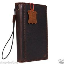 genuine retro leather Case for microsoft lumia 950 xl book wallet hand made slim