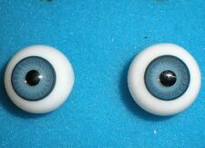 """pair of old glass eyes blue 0.68"""""""