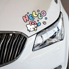 Hello Kitty Cat Blowing Bubble Random Eyelid Door Bumper Wall Decal Car Stickers
