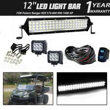 12INCH LED light bar+Wiring Combo Kit FOR Polaris Ranger RZR 570 800 900 1000 XP