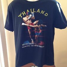 VINTAGE THAILAND MUAY THAI...THAIBOXING THE ART OF FIGHTING T SHIRT LARGE