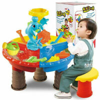 Kids Outdoor Sand and Water Table Play Set Toys Beach Sandpit Summer Gifts
